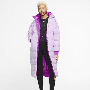 Nike down filled purple parka - NWT medium